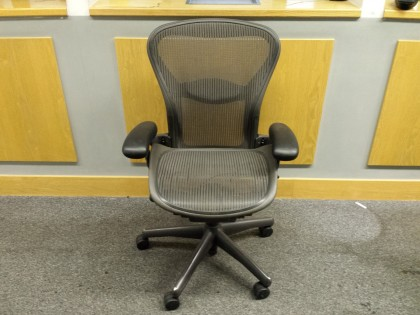 Herman Miller Aeron Office Chairs, Size B, Grey
