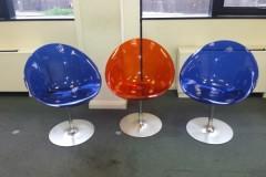 Kartell Eros Swivel Chairs