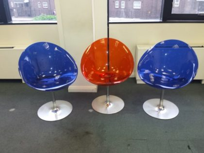 Kartell Eros Swivel Chairs