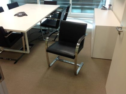 Brno Black Leather Meeting Chairs