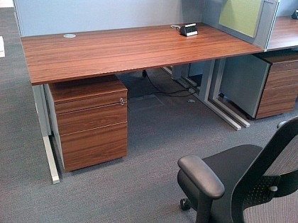 Techo Walnut Desks 1600 x 800mm