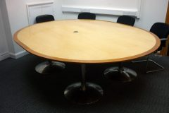 Almost Round Meeting Table