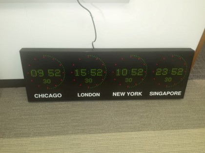 World Time Zone Wall Clocks