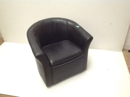 Black Leather Tub Chairs
