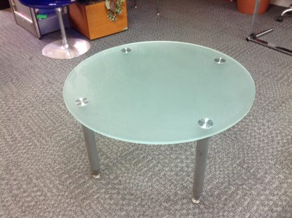 Frosted Green Glass Top Coffee Table