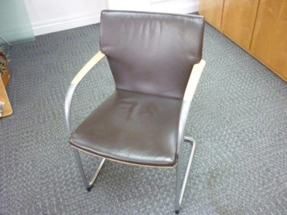 Kusch & Co Leather Meeting Chairs