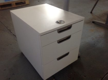 White 3-Drawer Pedestals
