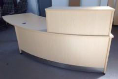 Light Oak Reception Desk