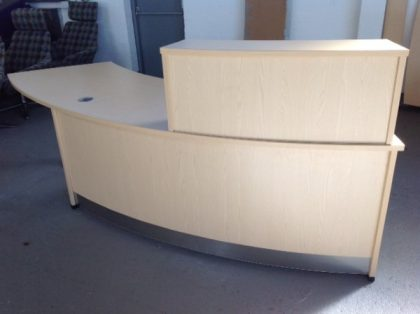 Light Oak Reception Desk