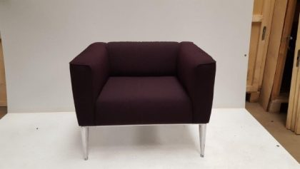 Dark Burgundy Armchair