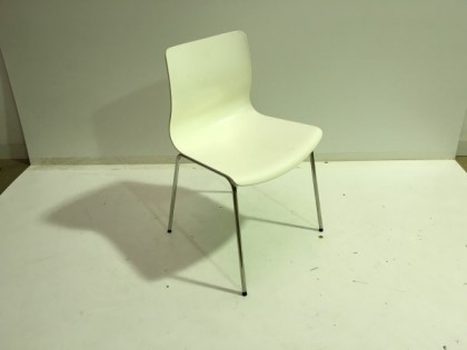 White Stackable Meeting Chairs