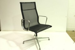 Black Mesh High Back Meeting Chairs