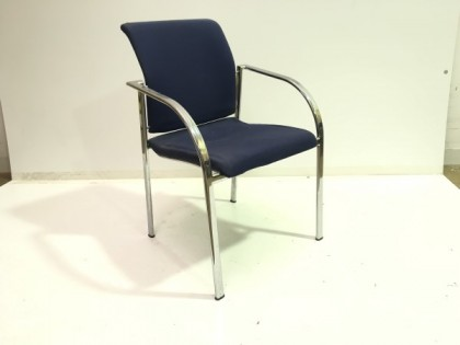 Blue Stackable Meeting Chairs