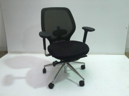 Black Mesh Back Operator Chairs