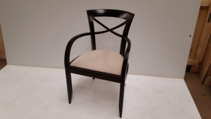 Dark Wood Framed Chairs