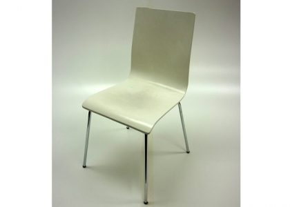 White High Back Cafe Chairs