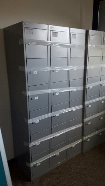 Bisley Grey 6-Door Lockers