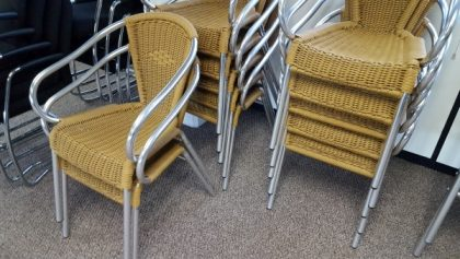 Rattan Breakout/Cafe Chairs