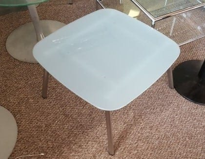 Square Frosted Glass Coffee Table