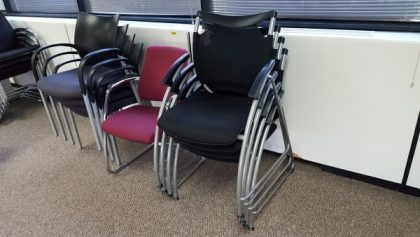 Black Stackable Meeting Chairs