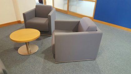 Grey Reception Sofa & Armchairs