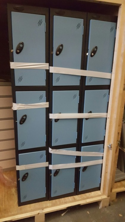 Blue & Black Metal Lockers