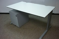 White 1400mm Desks