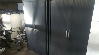 Grey Tambour Cupboards