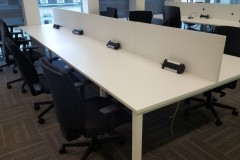 Used white bench desks