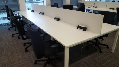 White Bench Desks 1100 x 800mm