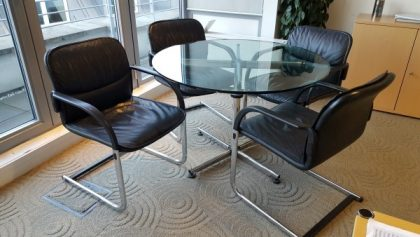 Black Leather Meeting Chairs