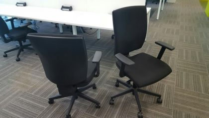 Black Operator Task Chairs