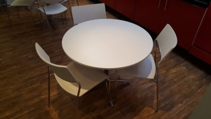 White Cafe Tables and Chairs