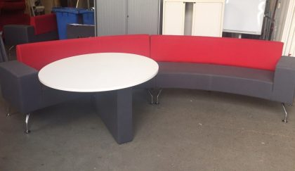 Circular Reception Sofa With Incorporated Meeting Table