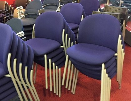 Blue Stackable Meeting/Conference Chairs