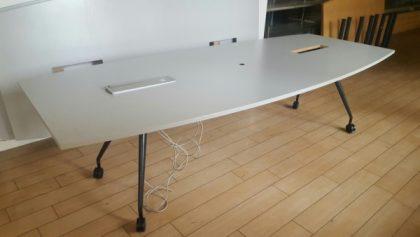 Barrel-Shaped Meeting Room Tables 2800 x 1200mm