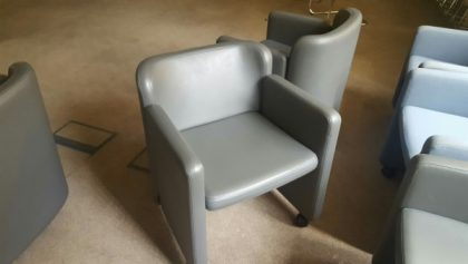 Arflex Leather Tub Chairs
