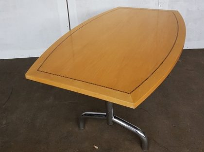 Tula Boat-Shaped Maple Veneer Meeting Tables 1600 x 1000mm