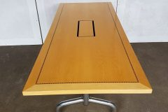 Tula Maple Veneer Flip-Top Meeting Tables with table top inserts