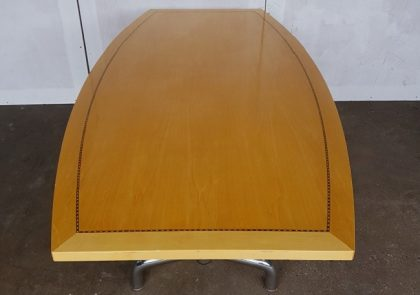 Tula Maple Veneer Barrel Shaped Meeting Tables 2000 x 1000mm
