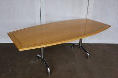 Tula Maple Veneer Barrel-Shaped Meeting Tables