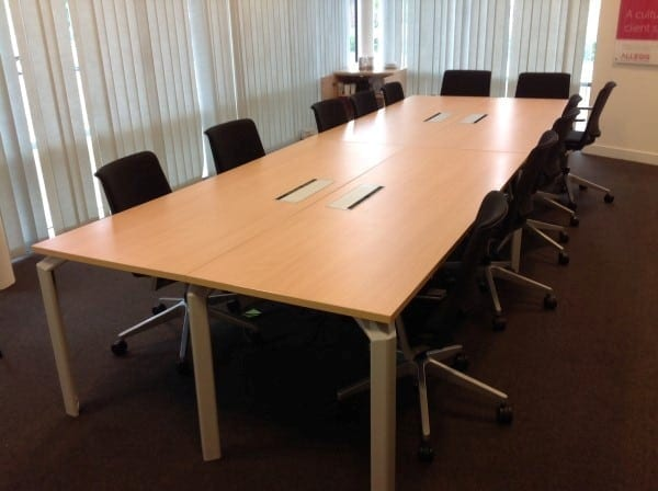 SUF Maple Boardroom Table X Mm Second Hand Tables - Second hand conference table