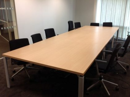 Maple Boardroom Table 4800 x 1600mm