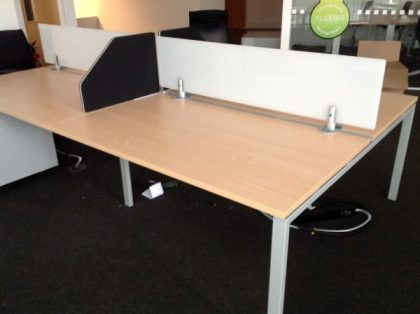 Beech Bench Desks  1400mm