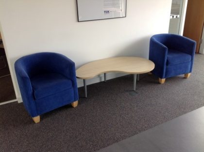 Reception Blue Fabric Tub Chairs