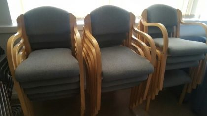 Wood Frame Stackable Chairs