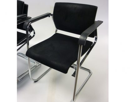 Wilkhahn Black Stackable Meeting Chairs