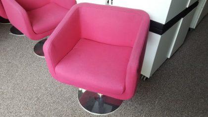 Retro Pink Tub Chairs
