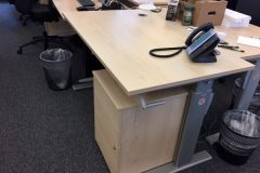 Maple Height-Adjustable Desks