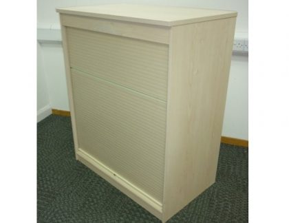 Maple Tambour Door Storage Units